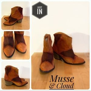 🆕Musse & Cloud By Anthro Leather Ankle Boots